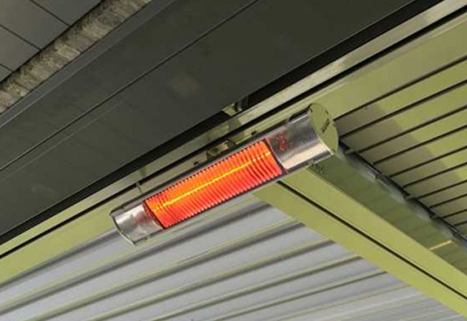 garden awning outdoor heater